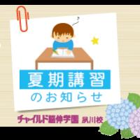 夏期講習 夙川校 チャイルド脳伸 幼児教室